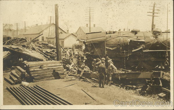 Photo of Train Wreck Massachusetts Disasters