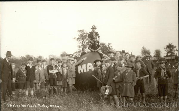 Gathering of Boy Scouts Downham United Kingdom