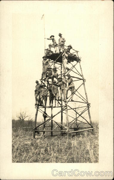 Boy Scouts Climbing Tower