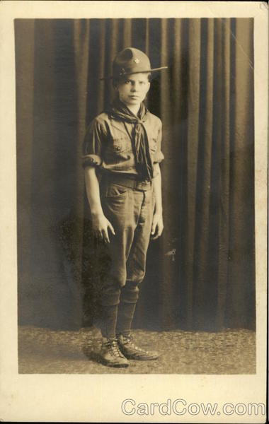 Portrait of a Boy Scout in uniform, 1927 Boy Scouts