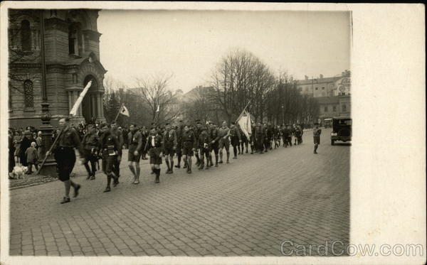 Boy Scouts in Parade Latvia Eastern Europe