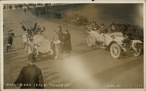 Scouts' Day, 1913 Auto Race, Brooklands Circuit Weybridge UK