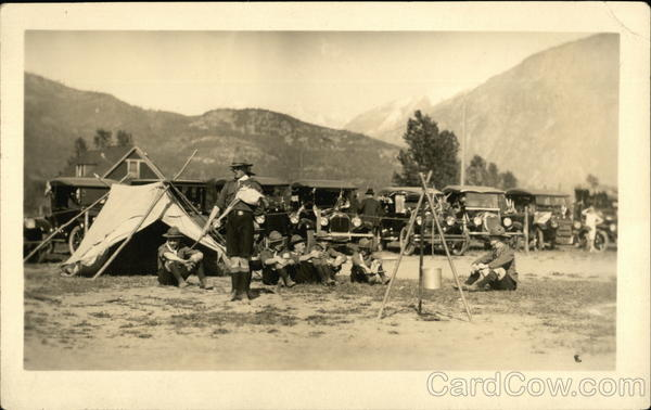 Boy Scouts at Revelstoke Scout Camp Canada British Columbia