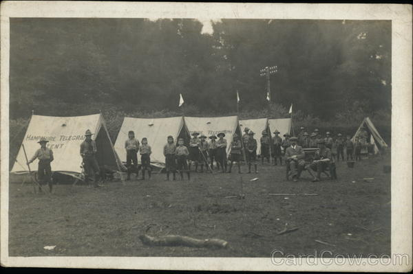 Boy Scouts in camp 1918