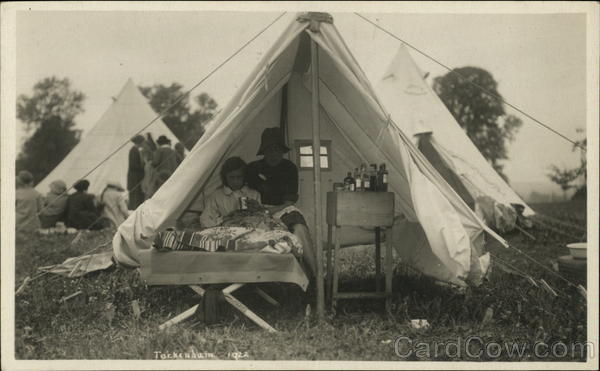 Tent with Sick Child Tockenham England