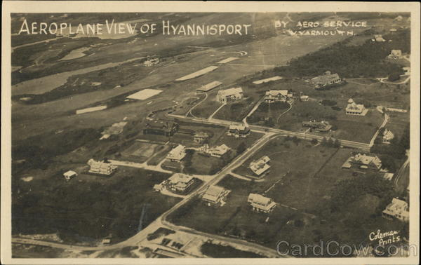 Aeroplane View of Hyannisport Hyannis Port Massachusetts