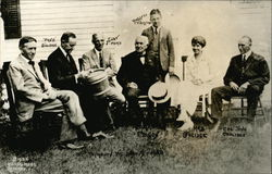 President and Mrs. Coolidge, Henry Ford, Russell Firestone, Thomas Edison