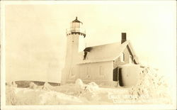 Eagle Harbor Lighthouse in Winter
