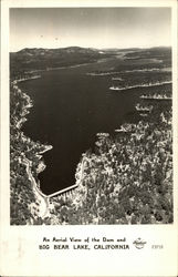 An Aerial View of the Dam and Big Bear Lake