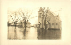 Flood streets in Hatfield Massachusetts