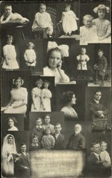 A collage of family photo portraits