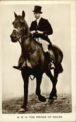 H.R.H. The Prince of Wales on Horseback