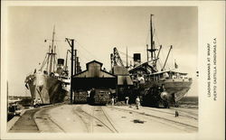 Loading Bananas at Wharf