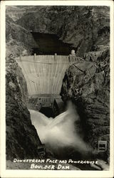 Downstream Face and Powerhouse Boulder Dam