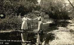 Where the Mississippi Starts - Two Women in Stream