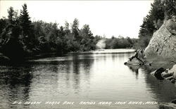Below Horse Race Rapids Near Iron River, Mich