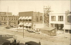 Bicylce Shop, Topeka Edison Company, View of Construction of Building