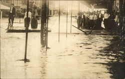 Flooded streets in an early 20th century community RPO