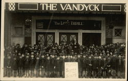 Cub Scouts in front of The Vandyck Cinema