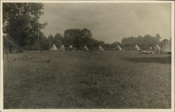 Scout Camp at Victoria Park Postcard