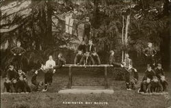 Axminster Boy Scouts Postcard