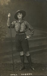 Studio portrait of a Girl Guide in uniform - Dora Dobson