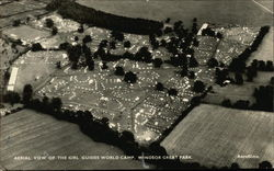 Aerial View of the Girl Guides World Camp, Windsor Great Park