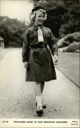 Princess Anne in her Brownie Uniform