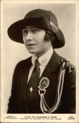 H.R.H. The Duchess of York Wearing the Uniform of the Girl Guides