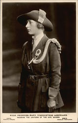 H.R.H. Princess Mary, Viscountess Lascelles Wearing the Uniform of the Girl Guides