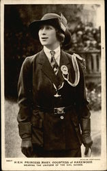 H.R.H. Princess Mary, Countess of Harewood, Wearing the Uniform of the Girl Guides