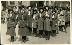 Girl Scouts In Formation