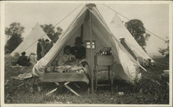 Tent with Sick Child
