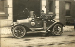 Fire Chief in Front of Goodwill F.C Postcard