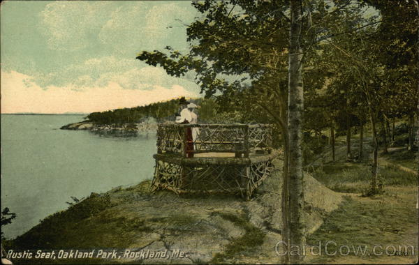 Rustic Seat, Oakland Park - Water View Rockland Maine