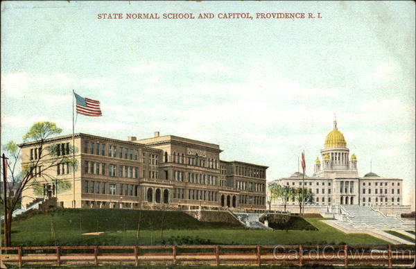 State Normal School and Capitol Providence Rhode Island
