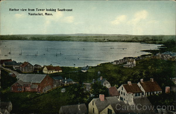 Harbor View from Tower looking Southeast Nantucket Massachusetts