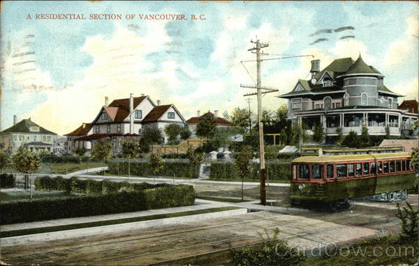 A Residential Section of Vancouver, B.C. Canada British Columbia