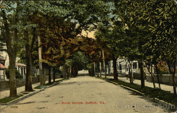 Residential View of Bank Street Suffolk Virginia