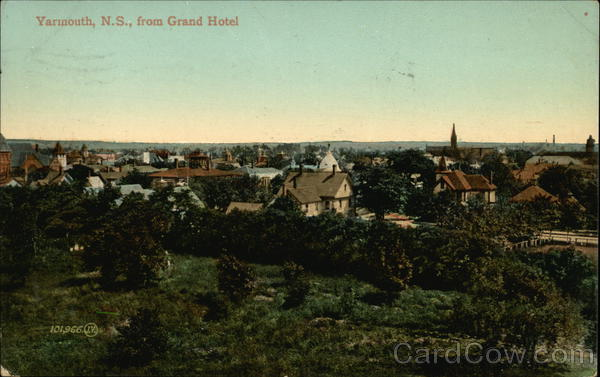 Yarmouth From Grand Hotel Canada Nova Scotia