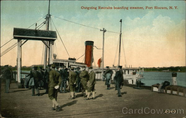Outgoing Recruits Boarding Steamer, Fort Slocum New Rochelle New York