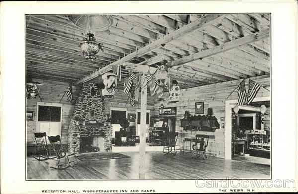 Reception Hall, Winnipesaukee Inn and Camps Weirs Beach New Hampshire