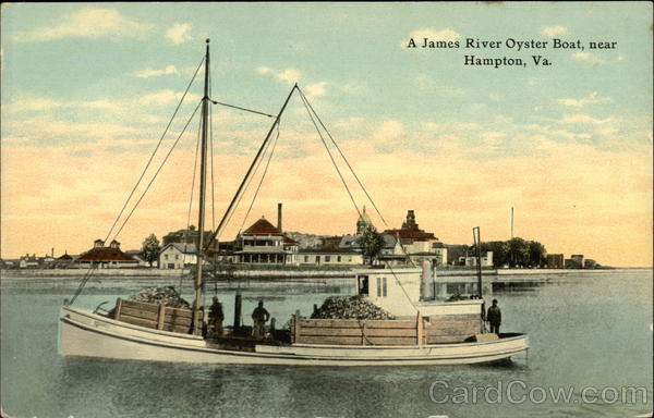 James River Oyster Boat Hampton Virginia