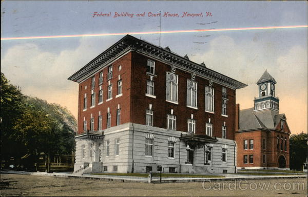 Federal building and court house newport vt for Cost of building a house in vermont