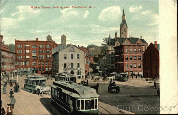 Market Square Looking East Providence Rhode Island