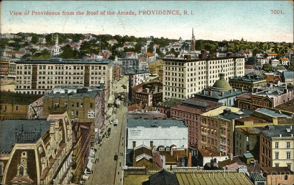 View of Providence from the Roof of the Arcade Rhode Island