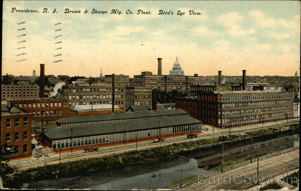 Bird's Eye View of Brown & Sharpe Mfg Co Plant Providence Rhode Island