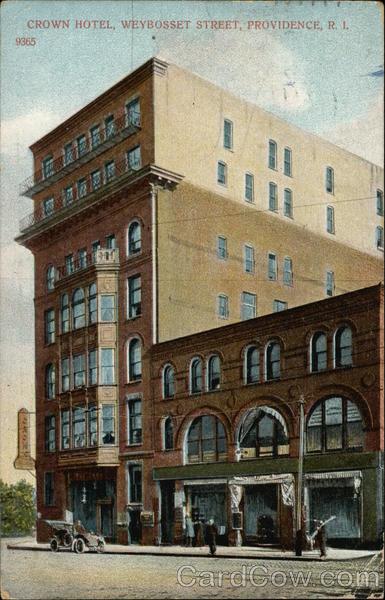 Crown Hotel, Weybosset Street Providence Rhode Island