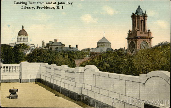 Looking East from Roof of John Hay Library Providence Rhode Island