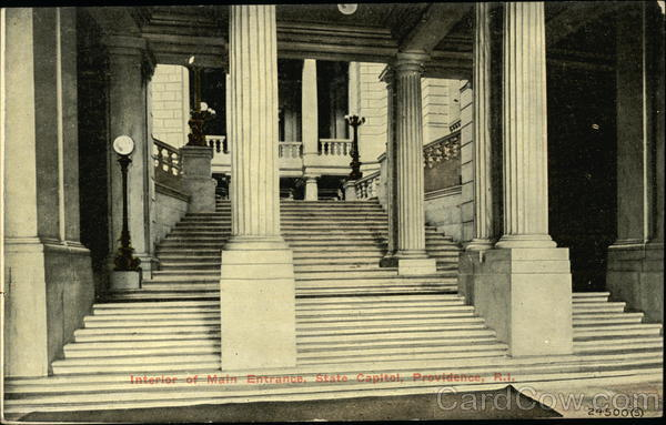 State Capitol - Interior of Main Entrance Providence Rhode Island